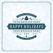 Vánoční retro typografie a světlé pozadí — Stock fotografie
