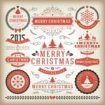 Christmas decoration vector design elements — Stock Photo #57519535