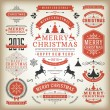 Christmas decoration vector design elements — Stock Photo #57519543