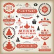 Christmas decoration vector design elements — Stock Photo #57519553