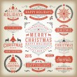 Christmas decoration vector design elements — Stock Photo #57519555