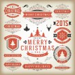 Christmas decoration vector design elements — Stock Photo #57519569