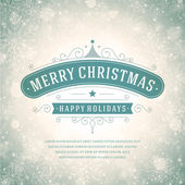 Christmas greeting card light and snowflakes vector background — Stock fotografie