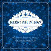Christmas greeting card light and snowflakes vector background — Stok fotoğraf