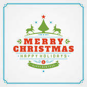 Christmas retro greeting card and ornament decoration — Stock Photo