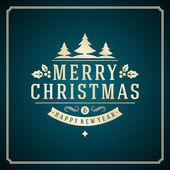 Christmas retro typography and ornament decoration — Stock Photo