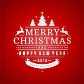 Christmas retro gratulationskort och prydnad dekoration vektor bakgrund — Stockfoto