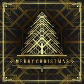 Christmas tree art deco style vector background — Stock Photo