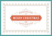 Christmas retro greeting card and ornament vector background — Stock Photo