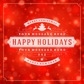 Christmas greeting card light and snowflakes vector background — Foto Stock