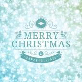 Christmas greeting card light and snowflakes vector background — Φωτογραφία Αρχείου