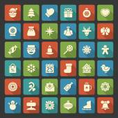 Christmas icons vector set decorations objects and symbols — Stock Photo