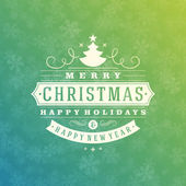 Christmas Light and Snowflakes Vector Background — Stock Photo
