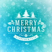 Christmas greeting card light and snowflakes vector background — Stock Photo