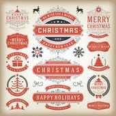 Weihnachts-Dekoration-Vektor-Design-Elemente — Stockfoto