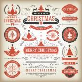 Christmas decoration vector design elements — Stock Photo