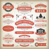 Christmas decoration vector design elements — Stockfoto