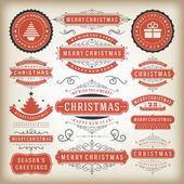 Noel dekorasyon vektör tasarım öğeleri — Stok fotoğraf