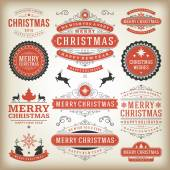 Christmas decoration vector design elements — Stock Photo