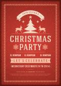Christmas party invitation — Stock Photo