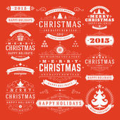 Christmas Decoration Vector Design Elements — Stockvector