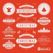 Christmas Decoration Vector Design Elements — Stock Vector
