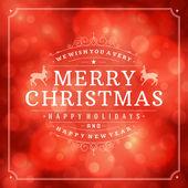 Christmas retro typography — Stock Photo