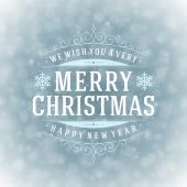 Christmas retro typography — Stockfoto