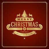 Christmas retro greeting card — Stock Vector