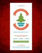 Christmas party invitation — Stock Vector