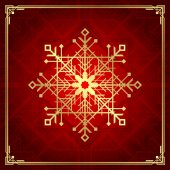 Christmas snowflake art deco style — Stock Vector