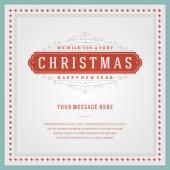 Christmas retro typography — Stock Vector