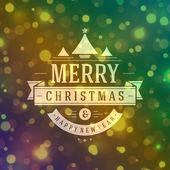 Christmas retro typography — Stockvektor