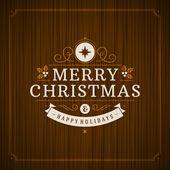 Christmas retro typography — ストックベクタ
