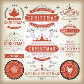 Christmas decoration design elements — Stock Vector