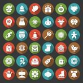 Conjunto de iconos de navidad — Vector de stock