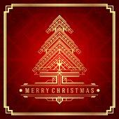 Christmas tree art deco style — Stock Vector