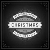 Tipografia retrô de Natal — Vetor de Stock