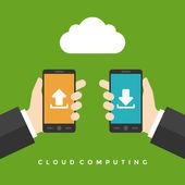 Businessmen hands holding smartphones — Stock Vector