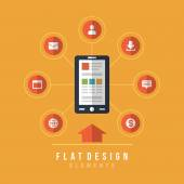 Business and social media design — Stockvector