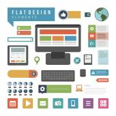 Computer infographic design elements — Stock Vector