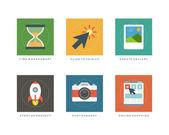 Flat  infographics elements — Stock Vector