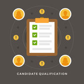 Concept of Candidate qualification — Stock Vector
