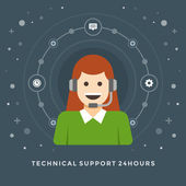 Concept of Technical support — Stock Vector
