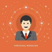 Concept of Personal Manager — Stock Vector