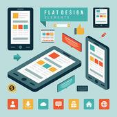 Social media design elements — Stock Vector