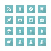 Flat icons concept — Stock Vector
