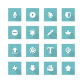 Vlakke pictogrammen begrip — Stockvector