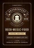 Oktoberfest beer festival poster or flyer template — Stok Vektör