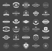 Retro Vintage Logotypes or insignias set — Stock Vector